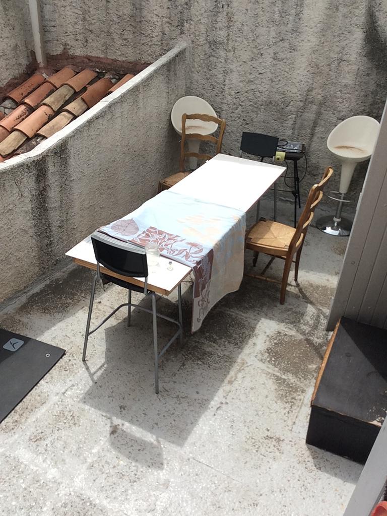 Terrasse 34 rue Mignet avant travaux
